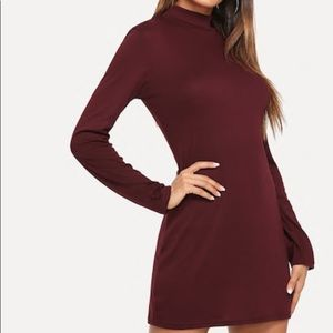 Red wine elegant dress